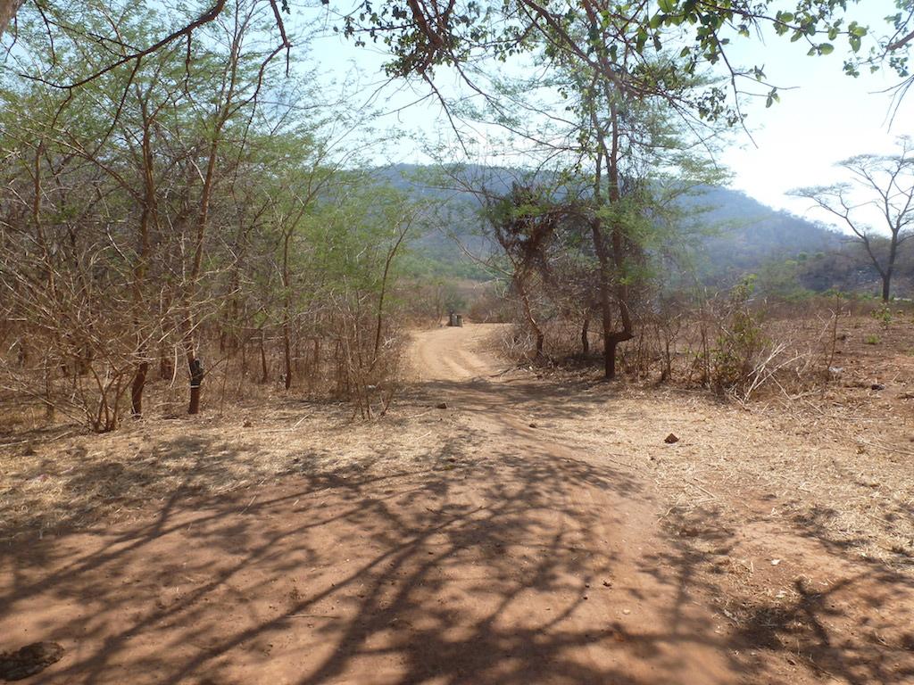 strada che porta al Mukwamba Village dove sorgera' la scuola